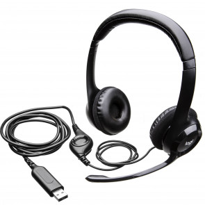 981-000803 - Logitech H390 USB Headset with Noise-Cancelling Mic