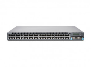 Juniper - EX4300-48T-DC-TAA - 48-port 10/100/1000BaseT PoE-plus Ethernet Switch