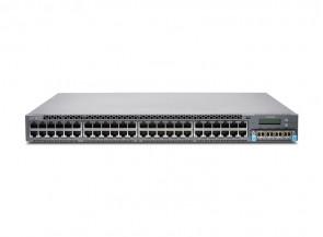 Juniper - EX4300-48T-DC-AFI - 48-port 10/100/1000BaseT PoE-plus Ethernet Switch